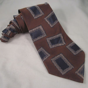 GIORGIO ARMANI Cravatte Silk Necktie Brown Blue